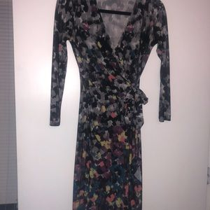 2 BCBG long sleeved wrap dresses